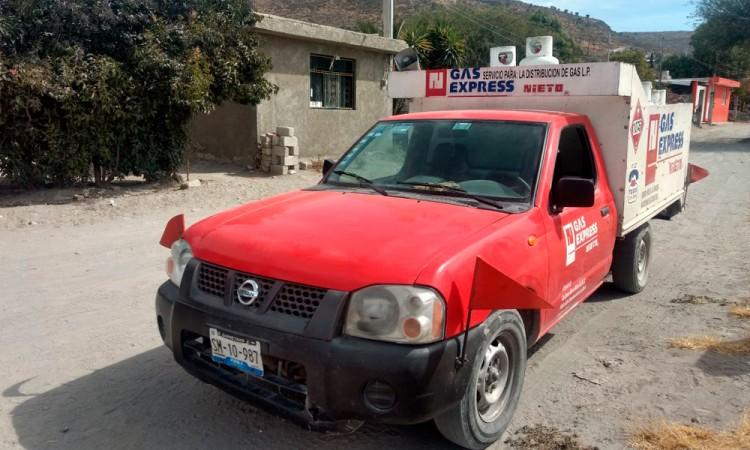 Localizan con camión repartidor de gas