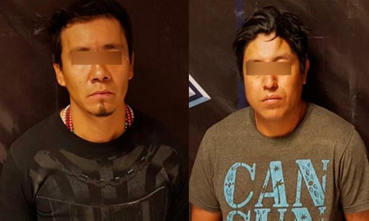 Dan con dos ladrones de tracto en Cuautlancingo