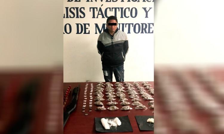 Detienen a dealer armado en San Salvador El Seco