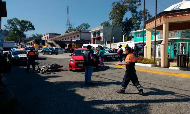 Dan llegue a motociclistas en Teziutlán