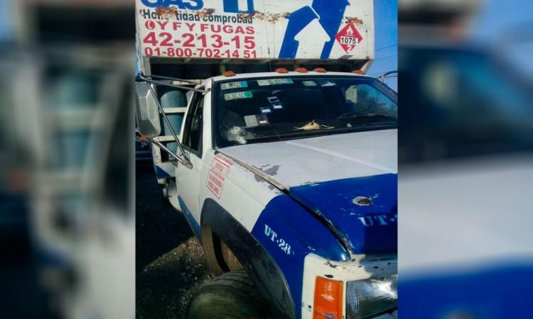 A balazos, intentan robar unidad repartidora de gas