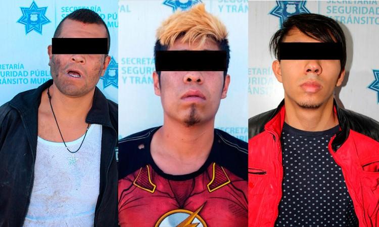 Arrestan a 3 cacos de Puebla capital