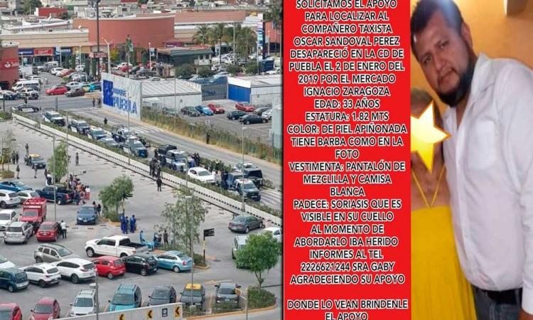 Buscan en redes a taxista secuestrado en Mercado Zaragoza