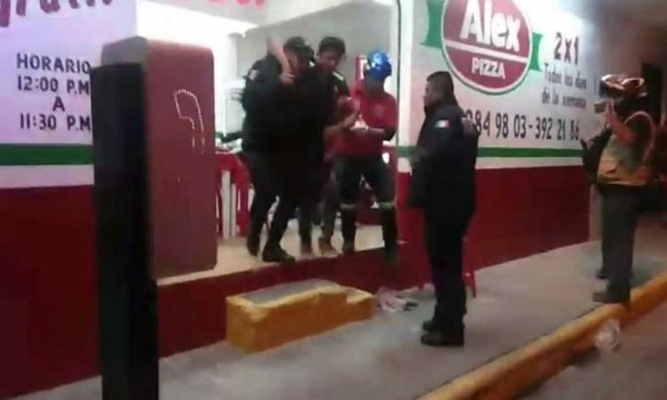 Asalto a pizzería deja tres heridos por arma de fuego en Tehuacán