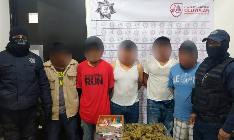 Can presuntos narcovendedores de Ocoyucan