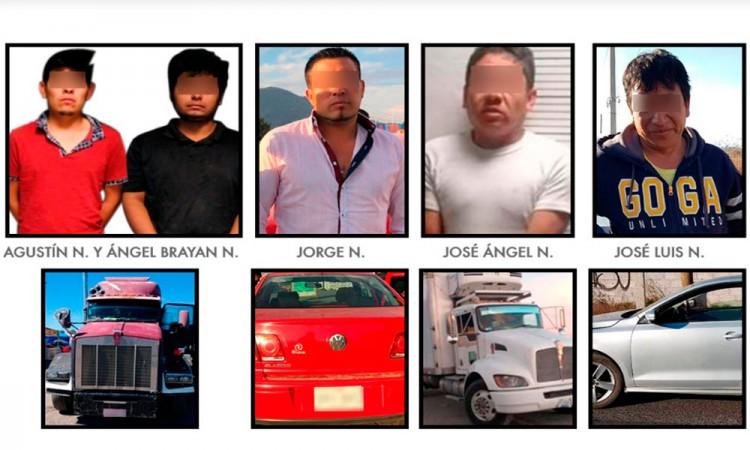 Aseguran a 15 sujetos por robo de vehículo