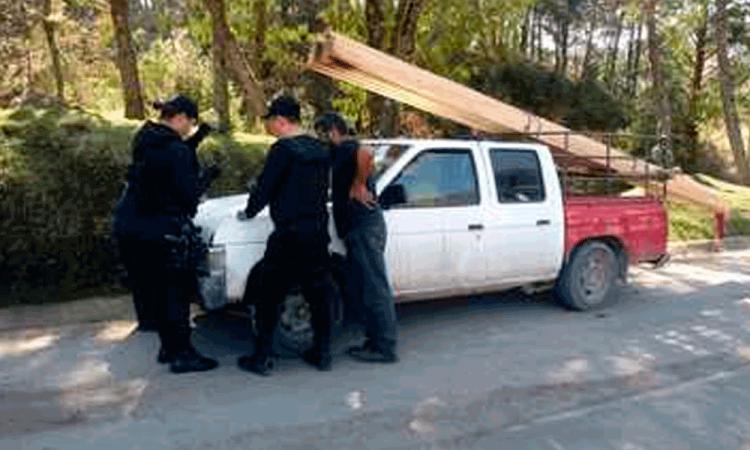 Detienen a contrabandista de madera en la Sierra Nororiental