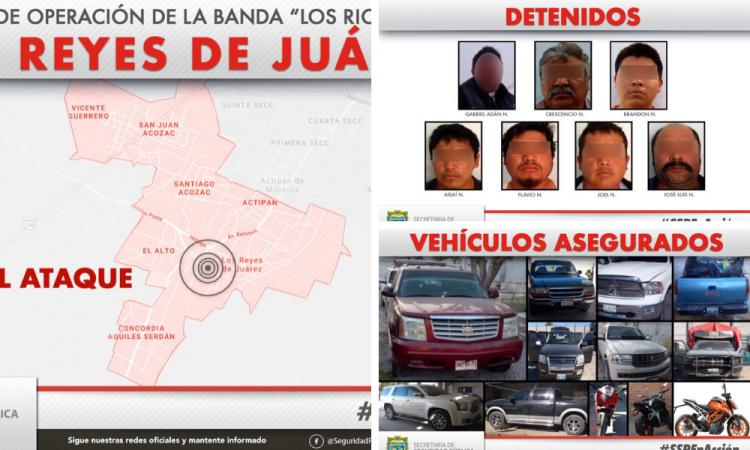 Desmantelan a Los Richards; asesinaron a policías en Los Reyes de Juárez