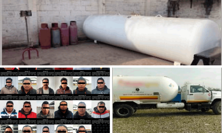 Desmantelan red de robo de Gas LP en Puebla