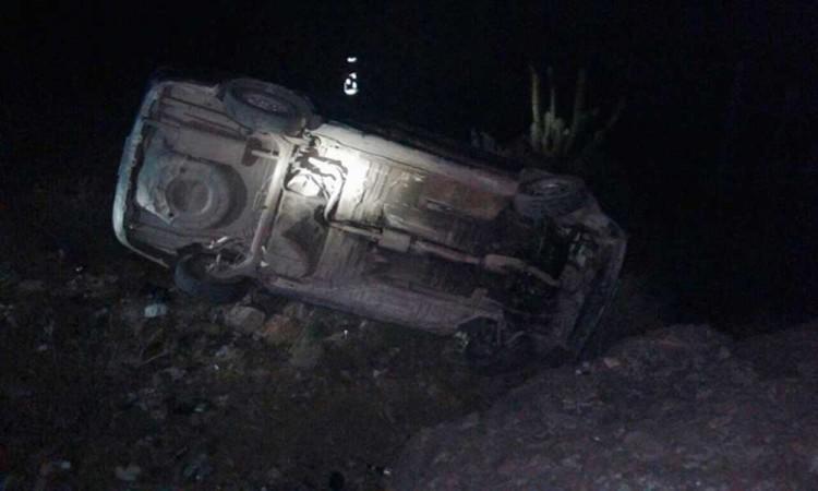 Roban casa en Villa Frontera y en huída desbarrancan un auto