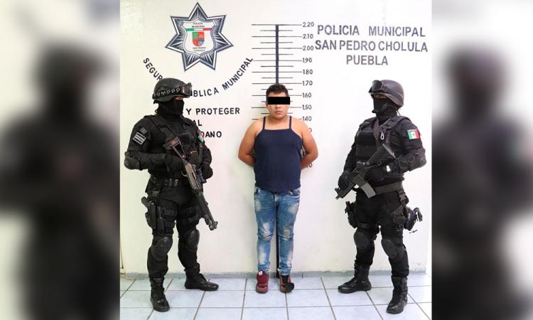 Cae por conducir vehículo robado en San Pedro Cholula