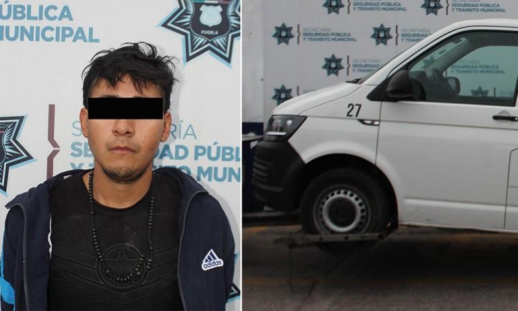 Detienen a sujeto por robo de vehículo en Maestro Federal