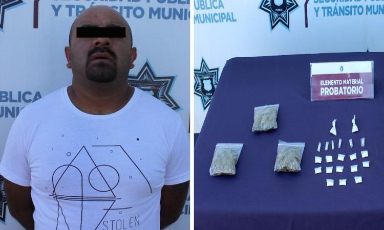 Detienen a narcomenudista en colonia Loma Encantada