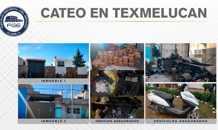 Catean y aseguran 18 toneladas de mercancía robada en Texmelucan
