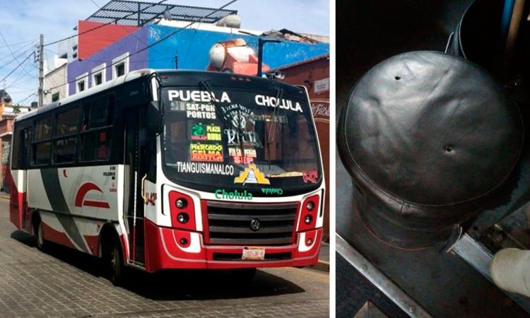 Durante asalto, balean autobús de los Rojos en Cholula