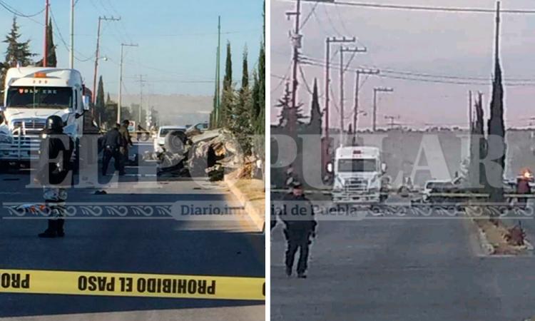 Fuerte operativo en Tecali, hallan camioneta con 3 muertos
