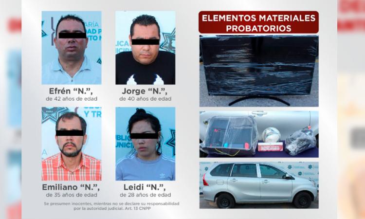 Con todo y Nintendo caen 4 ladrones de vivienda en Puebla