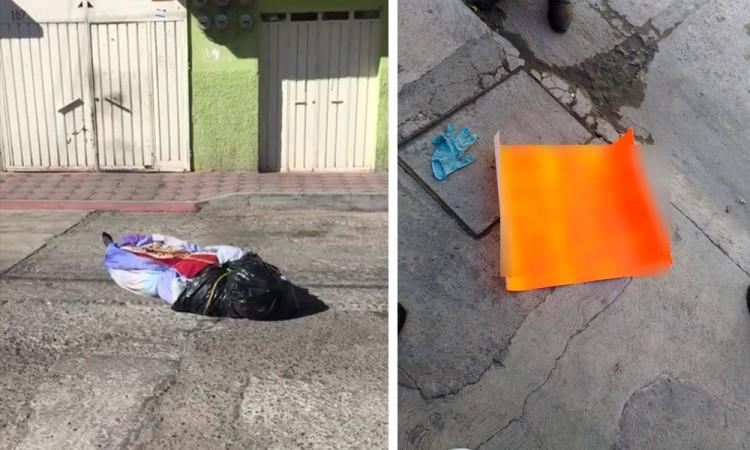 Abandonan cuerpos en Texmelucan; uno con narcomensaje