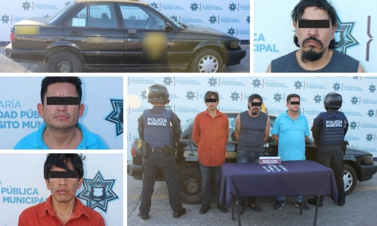 Detienen a tres sujetos por posesión ilegal de drogas