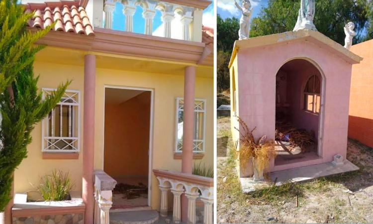 Saquean tumbas de panteón en Los Reyes de Juárez