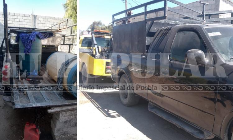 Aseguran contenedores y vehículos con hidrocarburo en Quecholac