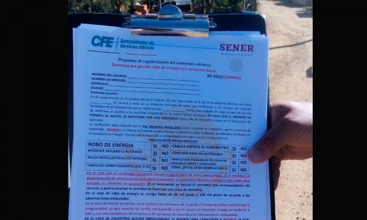 Engañan con falsos contratos de CFE en Tecamachalco