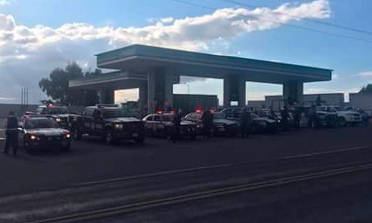 Encapuchados asaltan estación de gasolinera