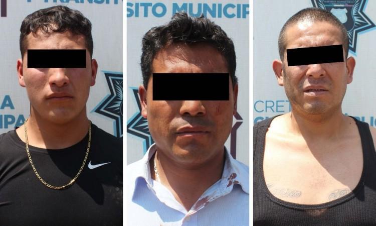 Detienen a tres por robo a Elektra en San Jerónimo Caleras