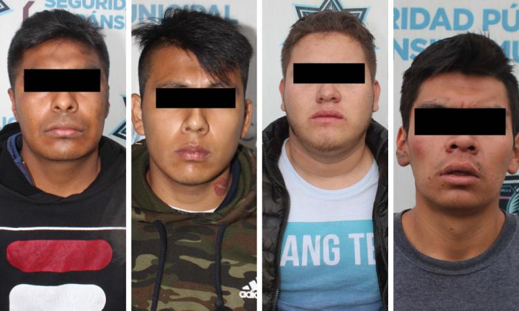 Detienen a cinco por asaltar en Puebla capital