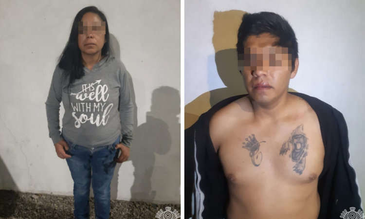 Detienen a pareja por posesión de drogas en Amalucan