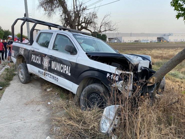 Choca otra patrulla en Huejotzingo