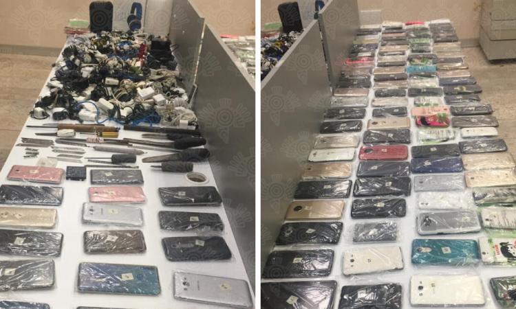 Decomisan celulares en Cereso de San Miguel
