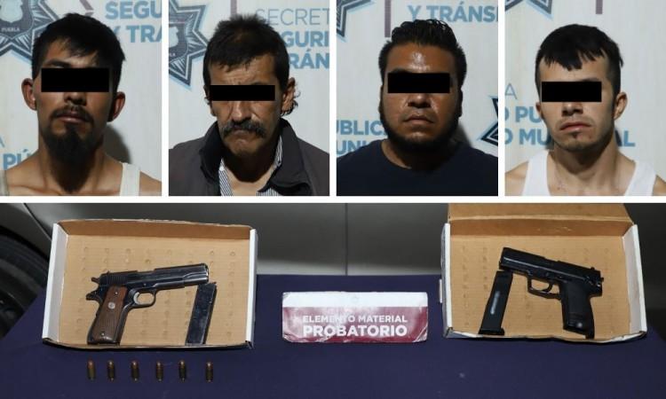 Detienen a cuatro sujetos por robo a gasolinera en Progreso Mayorazgo