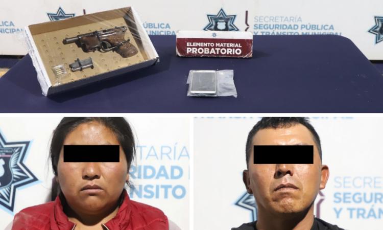Caen cuatro presuntos asaltantes en San Pablo Xochimehuacán