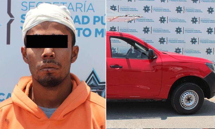Detienen a sujeto por robo de vehículo en La Guadalupana