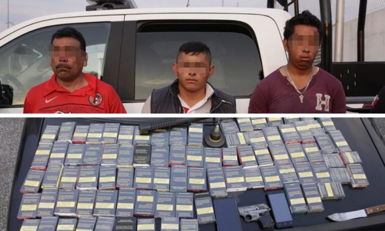 Detienen a 3 por asalto a tienda en Viveros del Valle