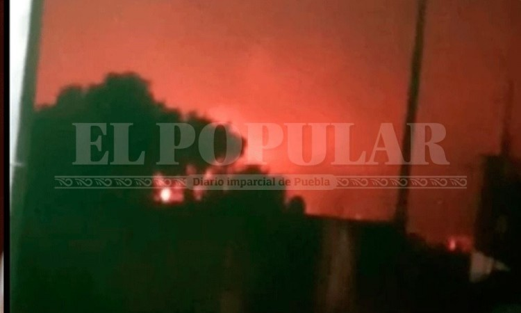 Explota una pipa de Gas LP en Junta auxiliar de Palmar de Bravo