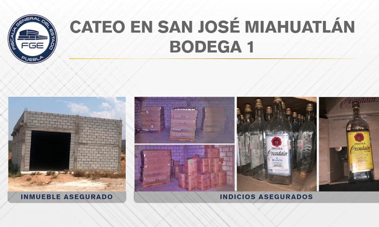 Aseguran más de 67 mil litros de alcohol adulterado en bodegas de Miahuatlán
