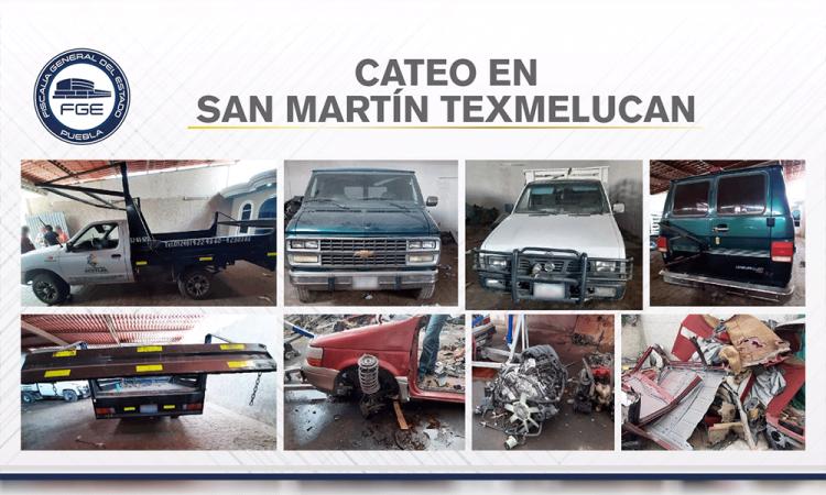 Realizan cateos en San Martín y aseguran vehículos robados