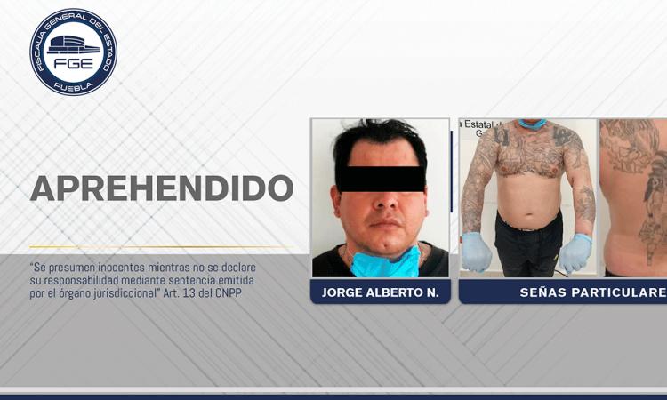 Detienen a sujeto por homicidio en Atlixco