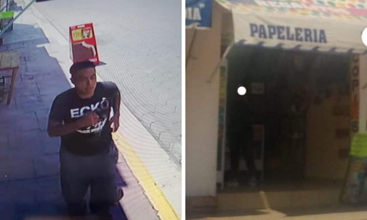 Ex agente asalta papelería en Tecamachalco