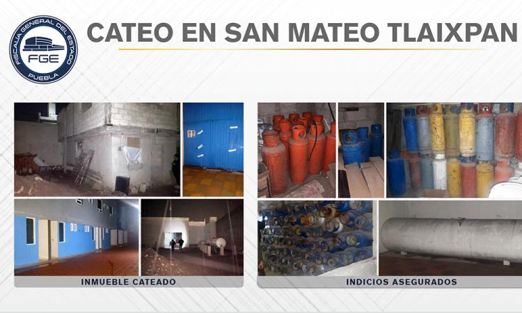 Recuperan 174 tanques de gas durante cateo en Tecamachalco