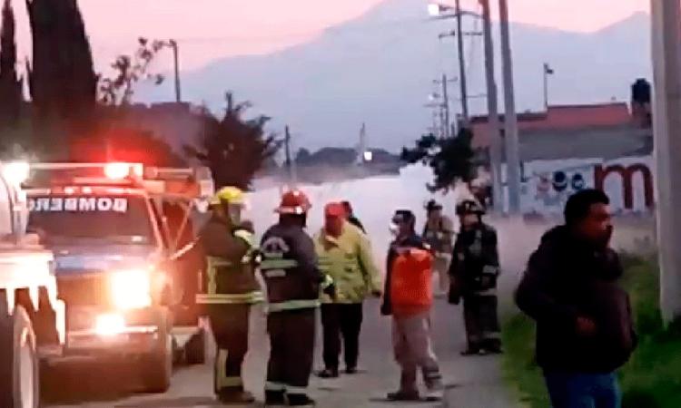 En Amozoc evacúan a mil personas por fuga de gas LP