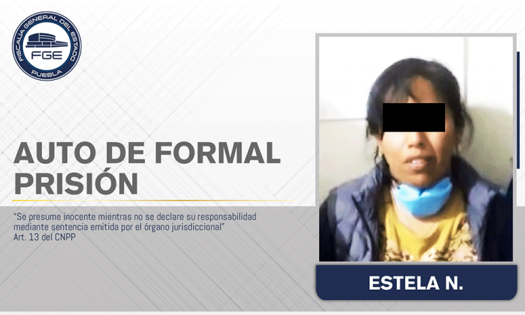 Envían a prisión a mujer por asesinar a su esposo en Xiutetelco