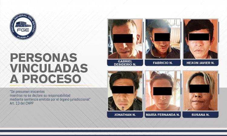 Vinculan a proceso a seis presuntos narcomenudistas durante cateo