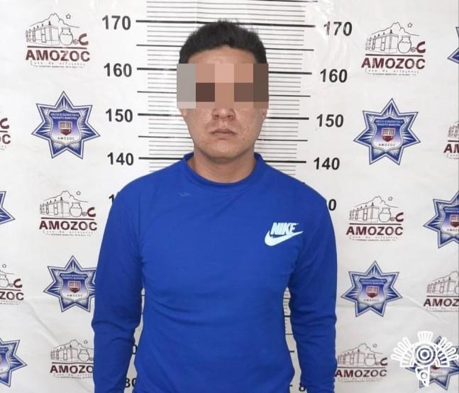 Detienen en Amozoc a tres presuntos asaltantes