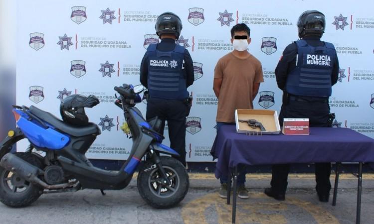 Detienen al Lompe, asaltante de transporte público en Puebla