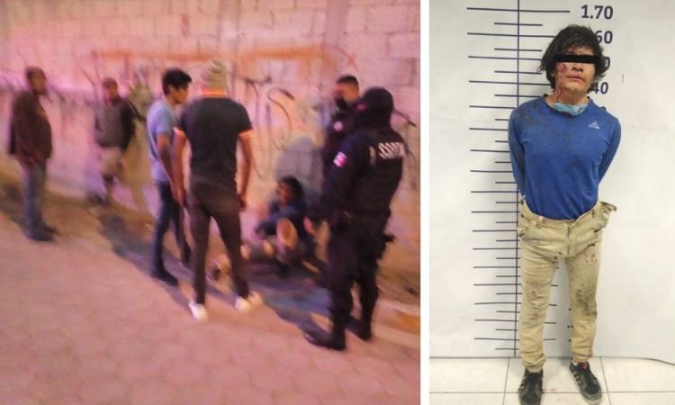 Oficiales evitan linchamiento en Tlaxcalancingo
