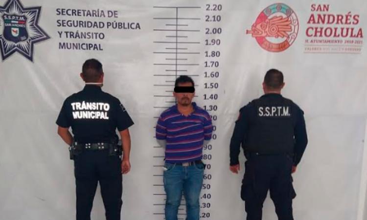 Capturan a ladrón de vehículo en San Andrés Cholula