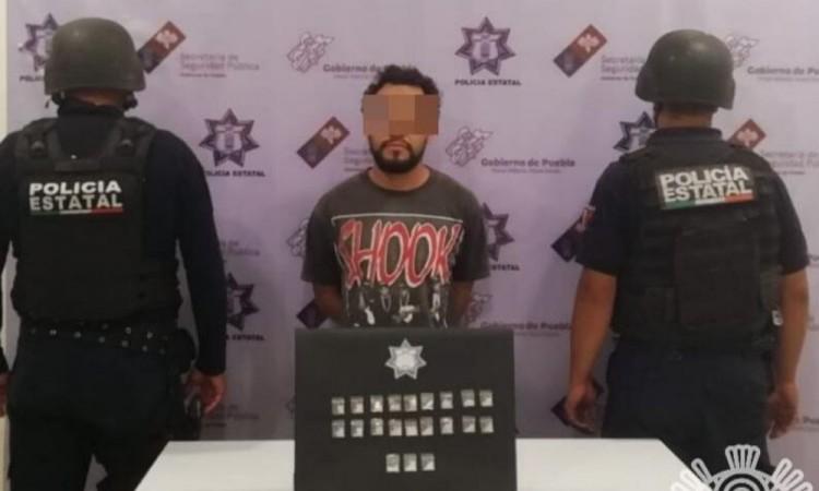 Capturan a presunto narcomenudista en Tehuacán